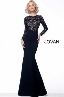 12ff6bef7a2c Jovani kjole med lange ærmer og med blonder