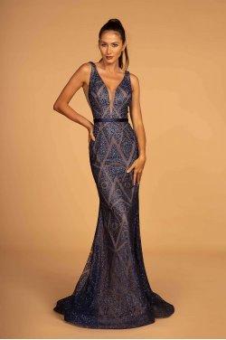 85044fa82265 Navy kjole med glitter 2646