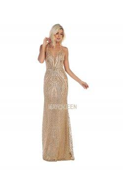 e96ca155d Sort kjole med lange ærmer MayQueen 7678 - MayQueen 2019 - tp kjoler